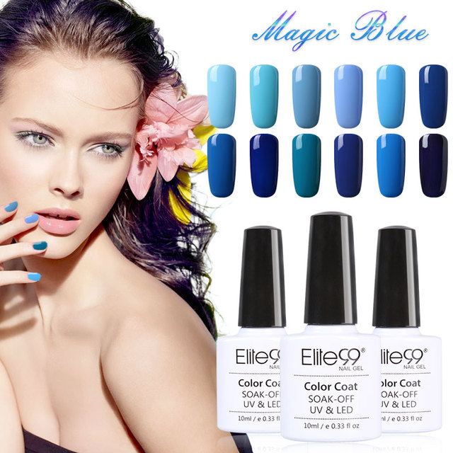 Elite99 Blue Gel Nail Polish – Qt nail