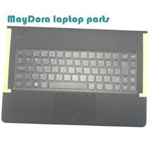 Laptop parts for LENOVO YOGA 3 pro 1370  Palmrest  with Backlit UK Keyboard and touchpad 5CB0G97373 brand new uk replacement laptop keyboard for lenovo z500 silver frame backlit win8 25206566 v 136520fk1 uk notebook keyboard