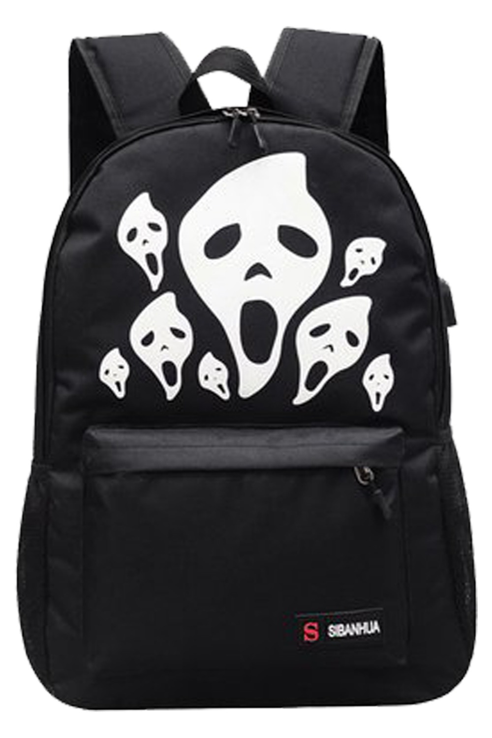 2017 3D Skeleton Printing Backpack Halloween Luminous Shoulder Bag Light Girls boy School Bags for Teenagers Printing Backpack