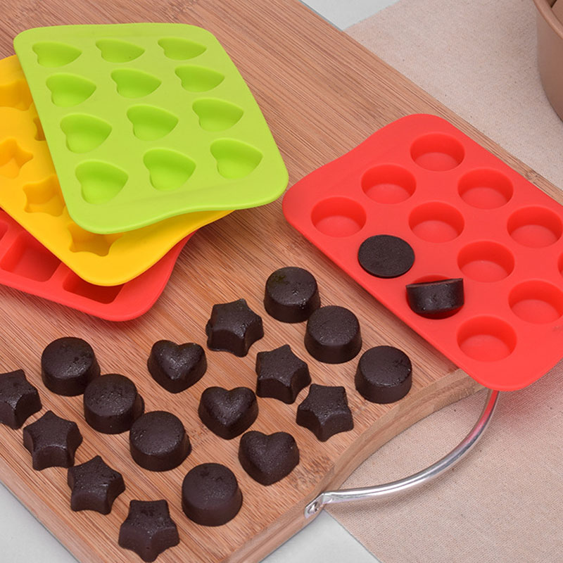 Baking Accessories Easy Cleaning Chocolate Mold Food Grade Silicone Kitchen Gadgets Ice Making Mould 1Pc Dessert Pudding Product