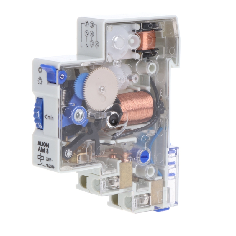AC 110-230V 7 Min DIN Rail Staircase Din Rail Relay Switch Time Timer Corridor Controller Time Switches 2pcs lot brand new sul 181d analog 24 hours mechanical din rail timer switch 15minutes