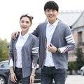 Hot Sale manga comprida primavera outono casal amante blusas de lã TB estilo novíssimo mulheres homens Cardigan camisola de malha moda Top