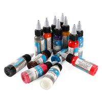 14 sztuk zestaw Microblading permanentny makijaż art pigment ink tattoo 30 ml tatuaż farby do brwi eyeliner wargi ciała całkowita 14 kolory