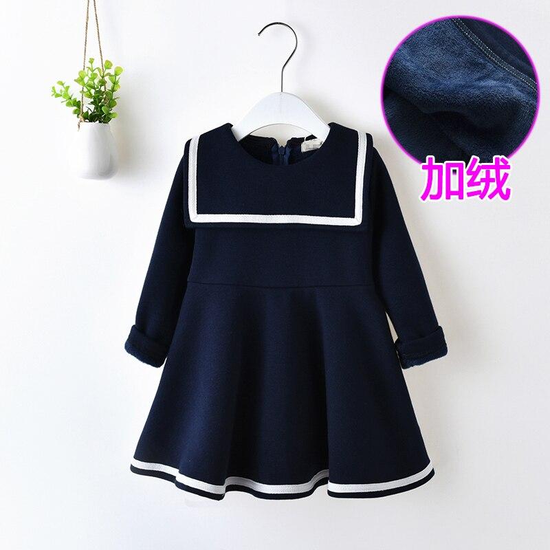 plus navy dress kid