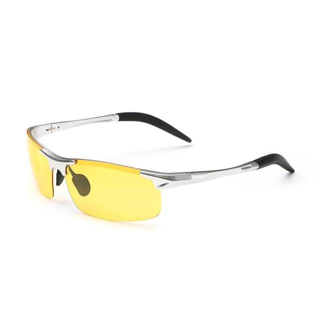 Men Night Driving Glasses Aluminum Alloy HD Night Vision Goggles Anti-glare Polarizer Sunglasses Car Drivers Glasses 6