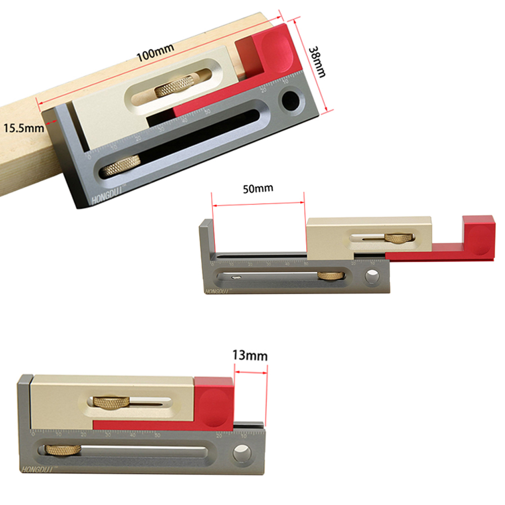 Пильный слот регулятор с коробкой JMPv2 нажимной стол пила слот регулятор подвижный измерительный блок компенсация длины Деревообрабатывающие инструменты