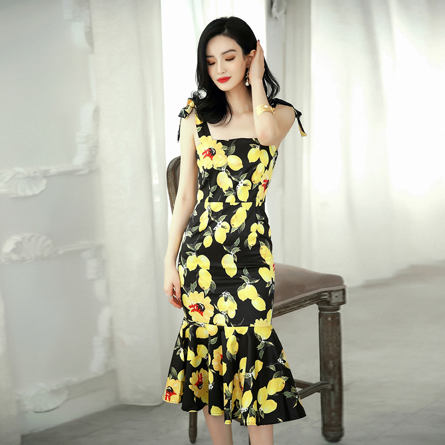Yellow Dresses Mermaid Promotion-Shop for Promotional Yellow ...