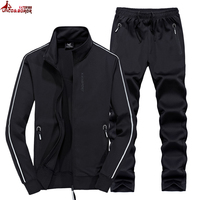 Autumn winter Men`s sets sportswear Tracksuit jackets + Pants Men Casual gym jogger Sporting Suits 6XL 7XL 8XL track suit men