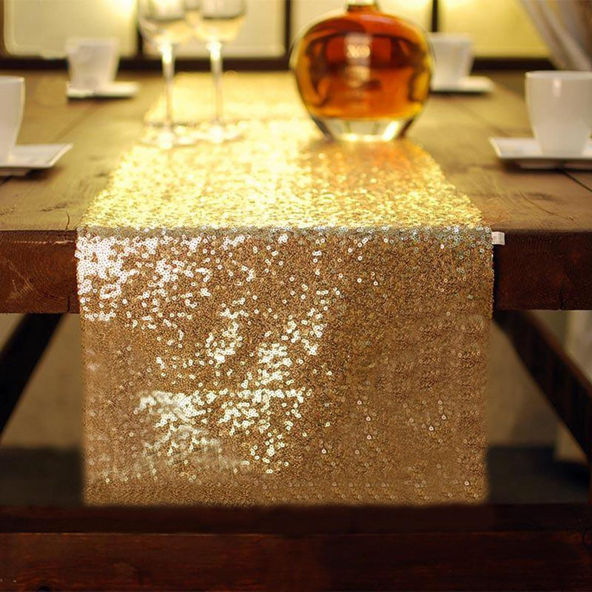High Quality Sparkly Sequins Table Runner Luxury Sliver/Gold/Red Tablecloth For Wedding  Party Event Home Decoration 30X274cm In Table Runners From Home U0026 Garden On  ...