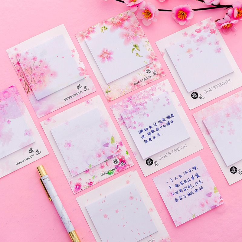 30 Sheets Creative Pink Girl Unicorn Kawaii Memo Pad Sticker Portable Message Stickers Pad Sticky Diy Office School Stationery In Pain Office & School Supplies Notebooks & Writing Pads