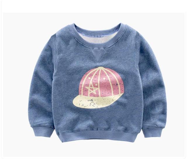 Venda quente chapéu do bebê Coreano meninos e meninas Camisolas Crianças Roupas T-shirt fábrica-direto-roupas de Manga Longa 2-5 ano