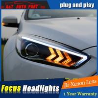 Auto Styling Für Ford FOCUS scheinwerfer montage Für FOCUS LED kopf lampe Angel eye led DRL front licht H7 mit hid kit 2 stücke.-in Fahrzeugleuchtenmontage aus Kraftfahrzeuge und Motorräder bei
