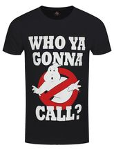 Ghostbusters Who you Gonna Call? Men's Black T-shirt Casual Plus Size T-Shirts Hip Hop Style Tops Tee S-3Xl 2018 Summer T Shirt