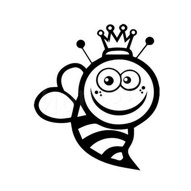 Queen bee wall home glass window door car sticker laptop auto truck black animal vinyl decal