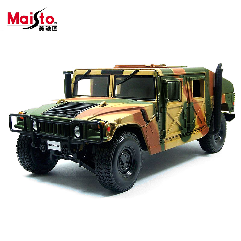 Maisto Hummer H1 Military Model 1:18 Alloy Car Model Toys Diecasts & Toy Vehicles Collection Kids Toys Gift bburago 360 challengr 1 24 alloy car model toys diecasts