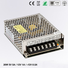 цена на 30W Triple output switching power supply 5V 12V -12V 5A 1A 0.5A power suply T-30B High quality ac dc converter