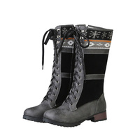 Women Shoes Boots Round Toe Winter Warm Snow Boots for Women Black boots