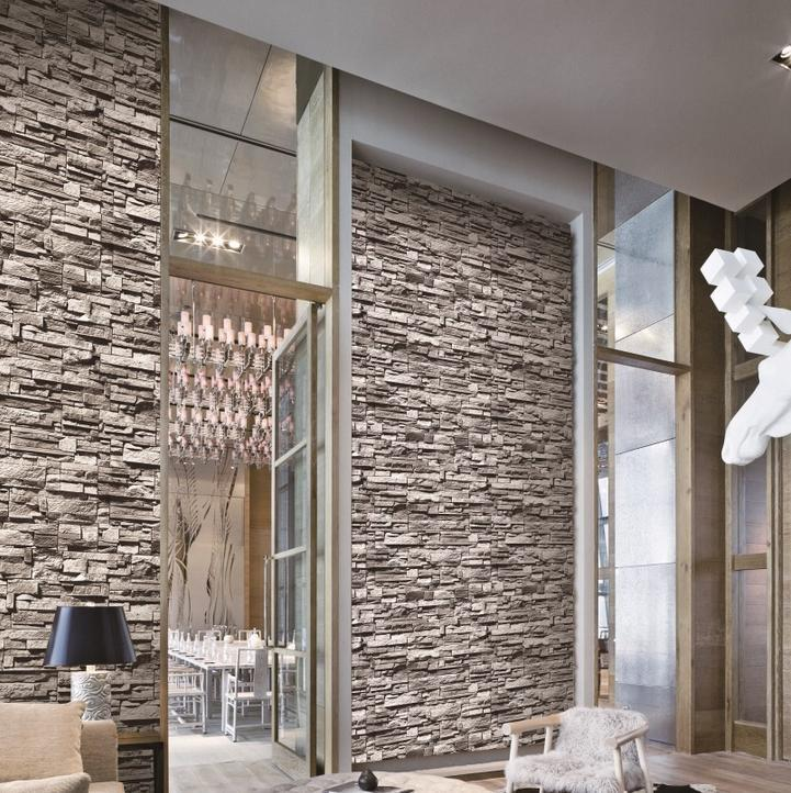 Roll Up Shades Fabric Picture More Detailed Picture About Modern - 3d brick wallpaper living room