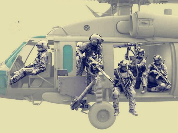 1/35 Resin Kits 7pcs Special Forces + Slings (no helicopter, machine guns)1/35 Resin Kits 7pcs Special Forces + Slings (no helicopter, machine guns)