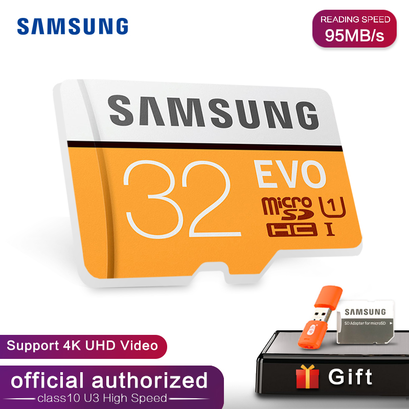 Samsung EVO 32GB 64G 128G SDHC GPS Card Carte Memoire C10 32GB SDXC EVO Cartao SD Smartphone Memory Flash Card Discount