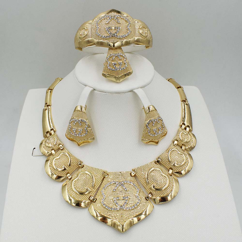 NEW  Fashion jewelry set African  Dubai gold-color African bead jewelry wedding jewelry set african beads jewelry High gradsets