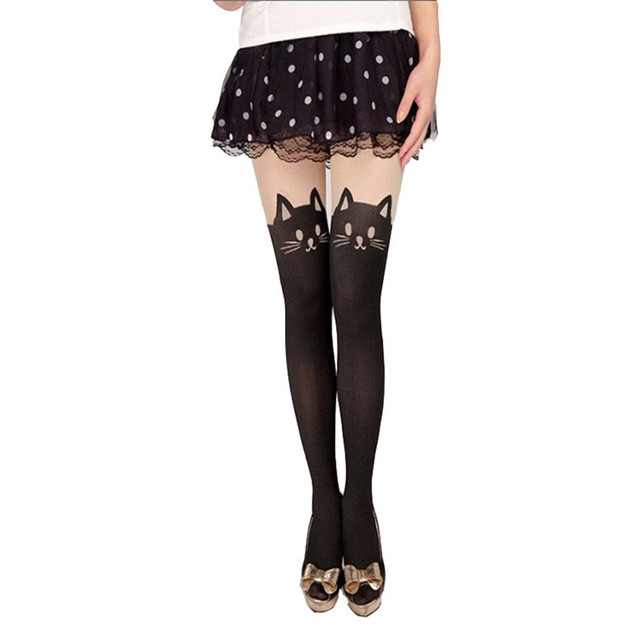 Sexy Women Stockings With Cute Prints