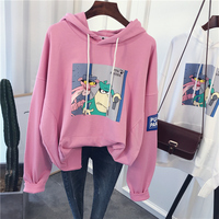 New Fashion Cute Hoodies Women Pink Panther Cartoon printing Hoodies Sweatshirt in stock 253