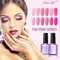 Beau Polaco ULTRAVIOLETA Del Gel Gel de Uñas de Color Rosa Princesa UV LED de Color Rosa Color Puro Rosa Serie Esmalte Esmalte de Uñas para Uñas de Gel de Larga Duración maquillaje