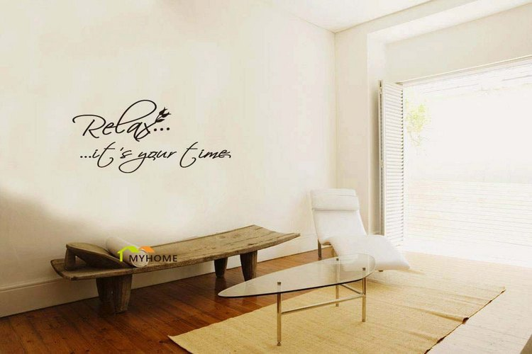 Relax Its Your Time Removable Art Wall Decals Quotes Vinyl - Wall decals relax
