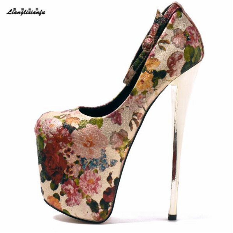 LLXF zapatos Plus:34-42 43 Spring Sexy 20cm Thin High-heeled Shoes woman Ethnic style Retro Stiletto female Ankle strap Pumps stylish elephant watercolor pattern square shape flax pillowcase without pillow inner