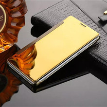 For Xiaomi Mi5 Luxury Gold Plating Mirror Leather Flip Case For Xiaomi Redmi Note 3 Phone Back Cover Auto-Sleep Function