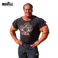 DRT2 New Bodybuilding Rag Top Gym Fitness Men NPC OLIMP Shirts Wear Undershirt Sports Vest Basketball