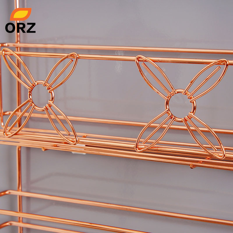 ORZ Refrigerator Broadside Shelf Rack Sidewall Multipurpose Shelf Crack Storage Rack Multi-layer Kitchen Organizer