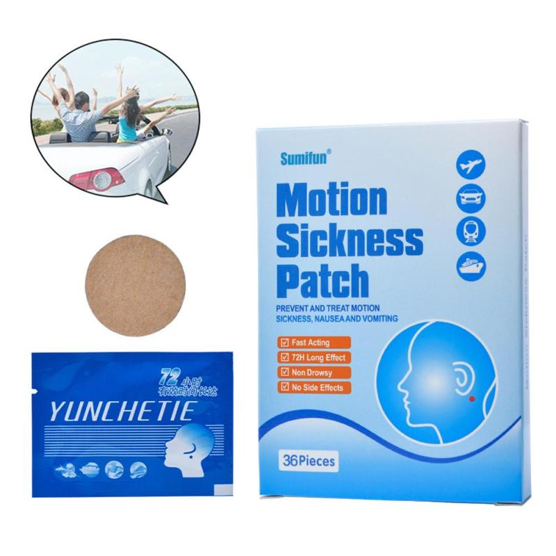 36Pcs Carsickness Relief Patch Car Motion Sickness Anti Airsickness Seasickness Nausea Dizzy Preventing Sickness Patches R3 цена