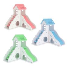 Pet House Villa Double Layer Ladder Slide Play Funny Gifts Sleeping Rest Nest Toys For Hamster Squirrel Chinchilla Guinea Pig m004a cute lovely 2 floor pet house w slide runner waterer for hamster multicolored