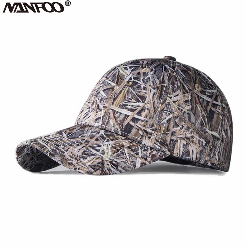 08fdd65a3d503 Detail Feedback Questions about Outdoor Sports Unisex Adult Hunting Camo Cap  Sunshade Fishing Reed Camo Hat Hiking Breathable Casquette Free Size Peaked  Cap ...