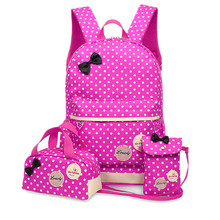 Backpacks School Bags For Girls Teenagers YUFANG 3 Pcs/Set Schoolbag Large Capacity Not Printing School Rucksack Cute Book Bags