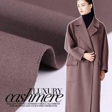 Chaqueta de invierno de lana de Cachemira de doble cara con tejido de color, abrigo grueso, tela de algodón/cachemira, 150cm, venta al por mayor