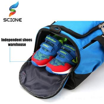 Large Sports Gym Bag With Shoes Pocket Men/Women Outdoor Waterproof Fitness Training Duffle Bag Travel Yoga Handbag 2