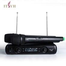ITSYH 무선 블루투스 마이크 코드가없는 듀얼 채널 & UT4 유형 마이크 KTV DJ Karaoke 회의 LF01-002를 위해