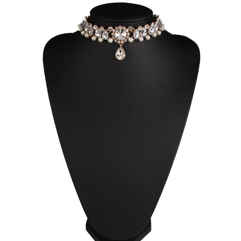 HTB187iEMVXXXXcWXVXXq6xXFXXXj Luxurious Pearls And Crystals Statement Choker Collar Necklace With Pendant Charm - 8 Styles