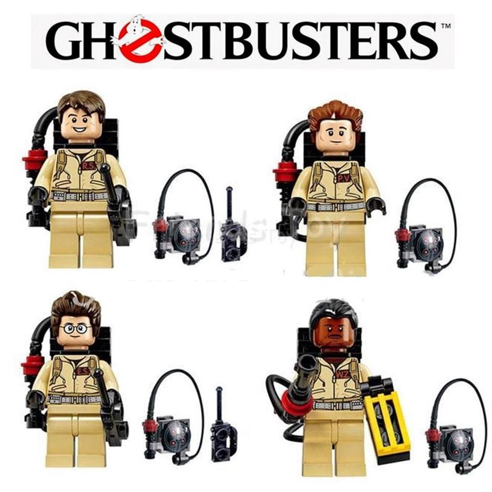 Luminous Ghost!!! Ghostbusters 9pcs Minifigures Custom Set For Lego