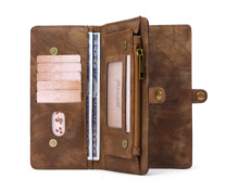 Multifunctional Business Luxury Leather Wallet Zipper Case Detachable Magnetic Back Cover For Samsung galaxy NOTE8