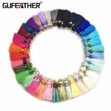 GUFEATHER L09/borla de seda/accesorios de pendientes/borla para joyas hechas a mano/hallazgos de joyería/materiales de joyería 10 unids/lote