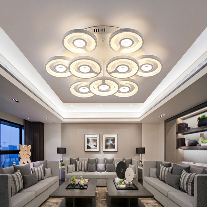 Luxury Circle Modern Led Dimmable Ring Ceiling Light Lamp Round House Lighting Fixtures For Salon Drawing Living Bed Room DecoLuxury Circle Modern Led Dimmable Ring Ceiling Light Lamp Round House Lighting Fixtures For Salon Drawing Living Bed Room Deco
