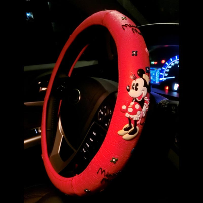 Cartoon schattig stuurwiel covers Mickey Mouse afgedrukt auto - Auto-interieur accessoires - Foto 3