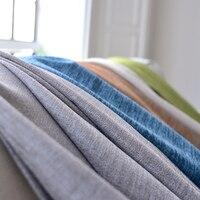 [Byetee]ブラックアウトカーテン用リビングルームカスタムリネン無地厚いシンプルモダンカーテン寝室の綿生地cortinas