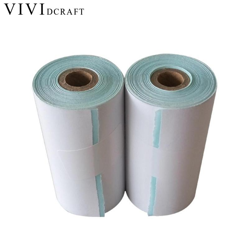 Vividcraft Office Supplies 57*30mm Glossy Paper Roll Photo Paper A4 Continuous HD Adhesive Printing Paper Label Photo Paper