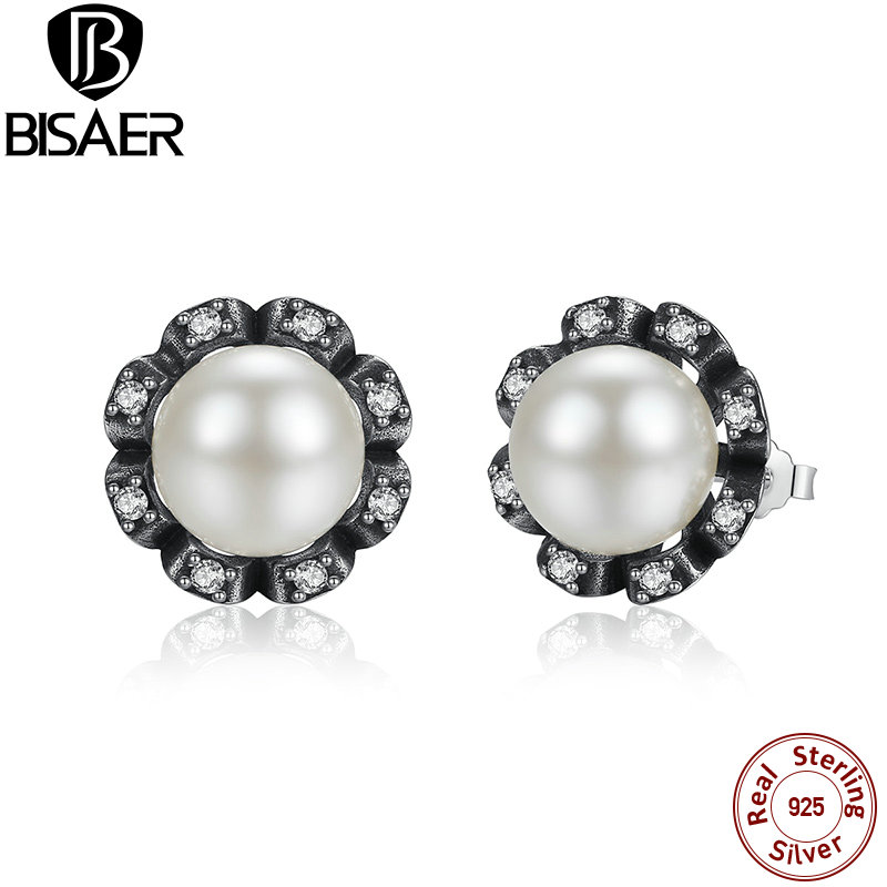 a57f28163100 Original 925 Sterling Silver Everlasting Grace pendientes frescas  cultivadas perla mujeres joyería WEUS424