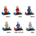 Marvel super heroes Avengers Ironman Electrochapa oro mk6 iron patriot Edición coleccionista building block com. legoeinglys. juguetes